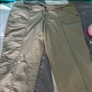 Maurice's tan pants can be capris also